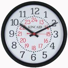 Military Time Wall Clock with Black Frame