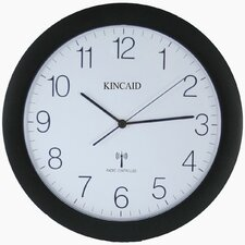 Radio Controlled Wall Clock with Black Frame