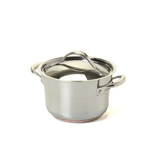 Nouvelle Copper Stainless Steel 3.5-qt. Soup Pot with Lid