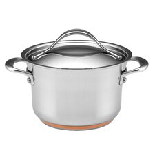 <strong>Anolon</strong> Nouvelle Stainless 3.5-qt. Soup Pot with Lid