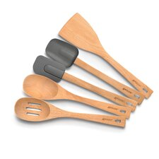 5-Piece Beachwood Utensil Set
