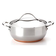 Nouvelle Copper Stainless Steel 4-qt. Round Casserole