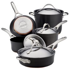 Nouvelle Copper 9 Piece Cookware Set