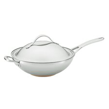 "<strong>Anolon</strong> Nouvelle 12"" Covered Stir Frying Pan with Helper Handle"