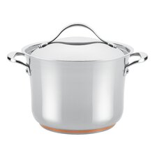Nouvelle Copper Stainless Steel 6.5-qt. Stock Pot with Lid