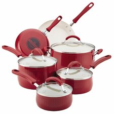 New Traditions Aluminum Nonstick 14-Piece Cookware Set