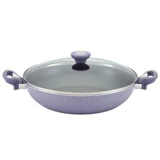 """New Traditions 12.5"""" Non-Stick Skillet with Lid"""