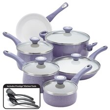 New Traditions Speckled Nonstick 14 Piece Cookware Set