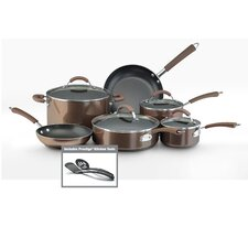 <strong>Farberware</strong> Millennium 12-Piece Porcelain Nonstick Cookware Set