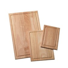 3 Piece Wood Cutting Board Set