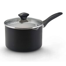 Aluminum Dishwasher Safe Straining Saucepan with Lid