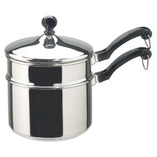 Stainless Steel 2-qt. Double Boiler with Lid