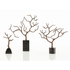 Banyan Sculpture Set in Copper Bronze (Set of 3)