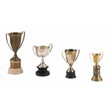 Hockaday Brass 4 Piece Trophy Set in Mixed Plated