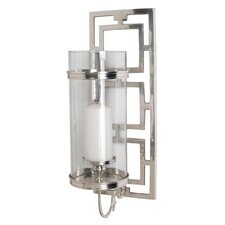Wilson Polished Nickel / Glass Hurricane Sconce