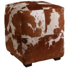 Otto Leather Cube Ottoman