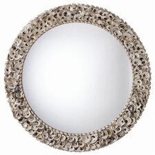 Kipling Authentic Oyster Shell Round Mirror