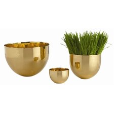 Stockholm Polished Brass Bowl (Set of 3)