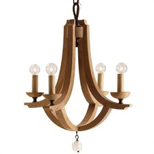 <strong>ARTERIORS Home</strong> Manning Wood / Crystal Chandelier
