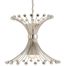 Macayle 3 Light Iron / Glass Chandelier