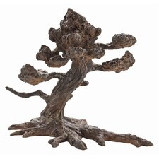 Cypress Bonsai Iron Sculpture