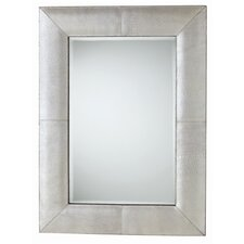 Mojave Rectangle Crackled Leather Mirror