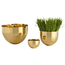 <strong>ARTERIORS Home</strong> Stockholm Polished Brass Bowl (Set of 3)