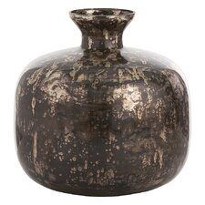 Marbled Mercury Round Glass Vase