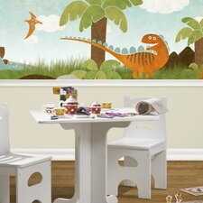Dino Might Scenic Wallpaper Border