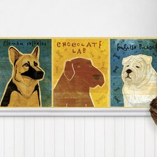 Top Dog Mural Style Wallpaper Border