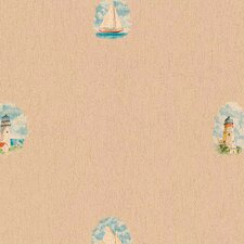 <strong>4 Walls</strong> Lodge Décor Pond Boat Toss Wallpaper