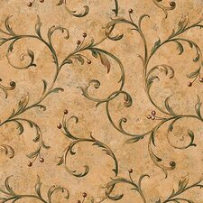 Lodge Décor Berry Trail Scroll Wallpaper