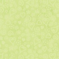 Whimisical Wallpaper Tonal Hearts Wallpaper