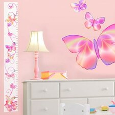 Fluttering Butterfly Peel and Stick Growth Chart