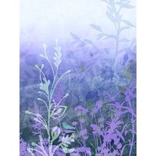 Modern Murals Wildflower Mural in Purple