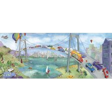 Watercolor Journey Bridge Wall Mural