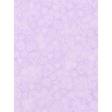 Whimisical Wallpaper Tonal Hearts Wallpaper in Purple