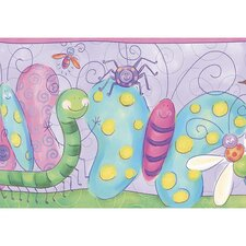 Whimsical Children's Vol. 1 Bug Border in Purple