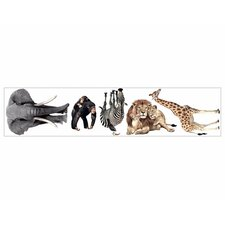 Jungle Animals Free Style Peel and  Stick Wall Decal in Multi