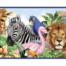 Jungle Animals Free Style Wallpaper Border