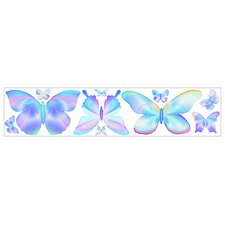 Fluttering Butterflies Freestyle Peel and Stick Decal in Blue