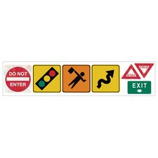 Traffic Signs Freestyle Peel and Stick Decal ( Set 2) in Bright