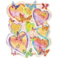 <strong>4 Walls</strong> Pastel Hearts Wall Decal
