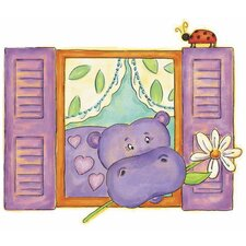 Hippo Panel Wall Decal