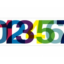 Typeset Numbers Mural Style Wallpaper Border