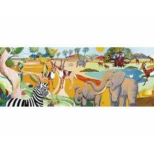 3D Safari Mural Style Wallpaper Border