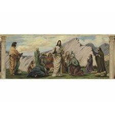 Life of Jesus Mural Style Wallpaper Border
