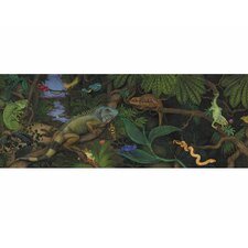 Iguanas and Lizards Mural Style Wallpaper Border