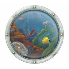 <strong>4 Walls</strong> Porthole Number 2 Accent Mural Wall Decal