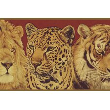 Lodge Décor Wildlife Portraits Border